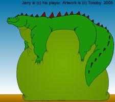 Jarry the komodo dragon color by Tolstoy