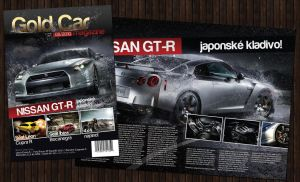 Gold Car magazine layout by fuxxo