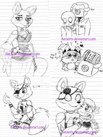 MY FNaF WIPs 2 (er...) by Beckitty