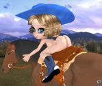 Dude ranch chibi by Chronophontes