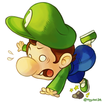Baby Green Mario by Haychel