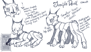 JumpieDevil concept sketch by Hauket