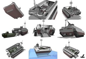 PAX Class Amphibious Transport by JazzLizard