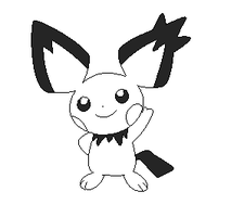 pichu lineart 2 by michy123
