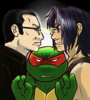 Tmnt Bishop Vs Casey by Dragona15
