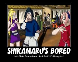What Shikamaru does when he's bored. by Gayistheway