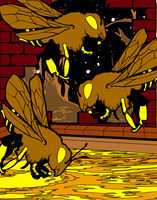 The Tickle Bees... by AngelGhidorah