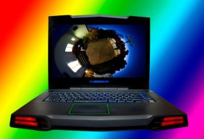 AlienWare Laptop Stock image by BiOzZStock