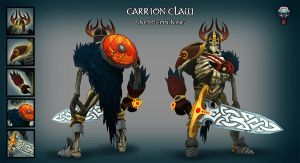 Skeleton King: Carrion Claw Set by redredundance