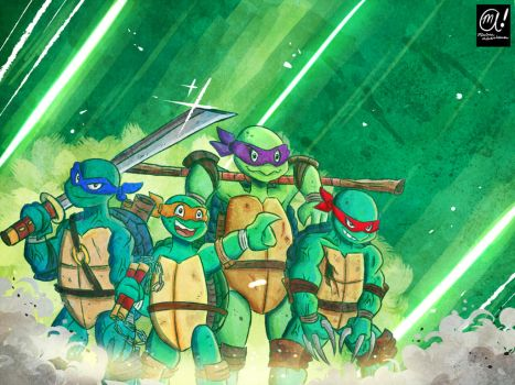 Teenage Mutant Ninja...well.. you know the rest... by Muhsai
