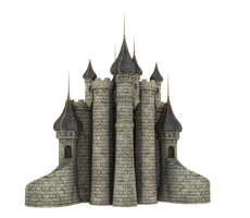 3d Fantasy Castle Stock Parts #34 beautiful back by madetobeunique