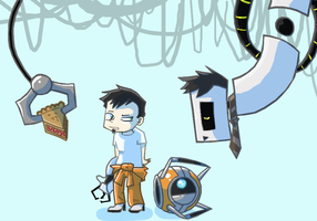 Dan VS Portal by caboosemcgrief