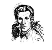 Matt Smith rough sketch by RJN16