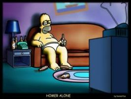 Homer Alone - Bennettua by simpsons-club