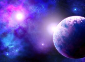 planet and nebula by vissroid