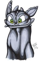 HTTYD - Toothless Curious by RegineSkrydon