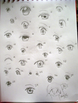 30 Ways to Draw Anime Eyes by luo-ka