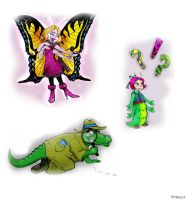 Cartoon Characters by TRALLT