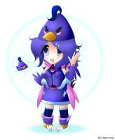 Request: Indigo Angry Bird girl chibi by Neon-Juma