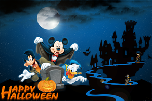 Halloween With Mickey by AMDOMINATOR