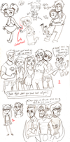 Phineas and Ferb sketchdump by Surfer-Draik