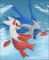 latias and latios by darkblaze12