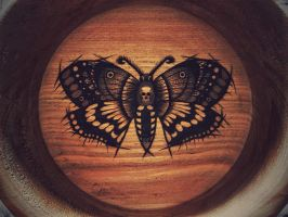 Death's Head Hawk Moth by KenazArt