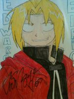 Ed elric drawing signed by shelbaloo3
