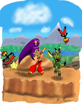 Paragon's Shantae Gallery Fighting_tinkerbats_in_dragon_valley_by_paragonofsonamy-d5f9pgk