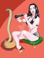 Morticia Tv Pinup by thomsolo