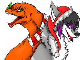xmas gift: shroude and Riotlizard by eggsthetic