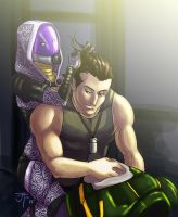 Commission: Shepard and Tali by Gone-Batty
