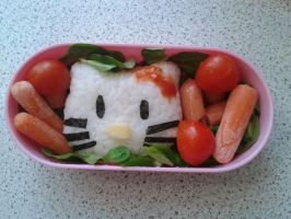 Bento Box: Hello Kitty by Erufu-Elda