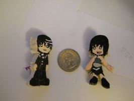 Custom Pins Death the Kid and Hoshi the Witch by MaiShark