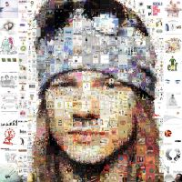 Axl Rose Mosaic by Cornejo-Sanchez