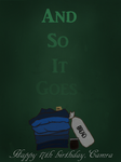 And So it Goes (Title page) by Mockingbirdblues