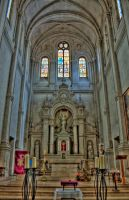 Nave of Church by Maylich