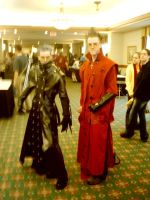 Cosplay Knives and Vash by solarsun