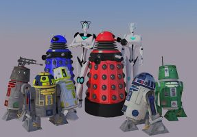Cybermen, Daleks and Droids - Oh my! by calamitySi