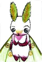 Luna Moth chibi by ayellowbirds