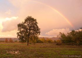 A rainbow at sunset by austinboothphoto