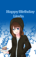 Happy Birthday Linda 8D by ShiwaShiwa