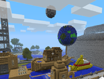 boat,earth and minecraft by boyhumbug