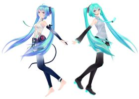 [MMD] The Miku's by sailor-rice