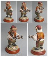 Hoggle sculpture clay labyrinth by yotaro-sculpts
