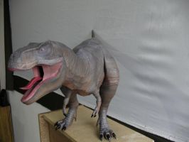 T rex papercraft Face close up by Alejandr0-M