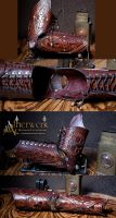 Steampunk Leather Arm Armor by Aetherwerk
