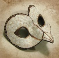 Leather Owl Mask by Dr-K