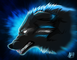 Blue Fury by TechnicolorDog