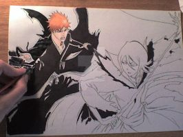 Making Ichigo and Rukia by victoriapieroni